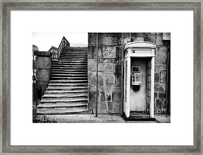 Stairs Or The Phone Framed Print by John Rizzuto