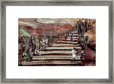 Stairs To Temples  Framed Print