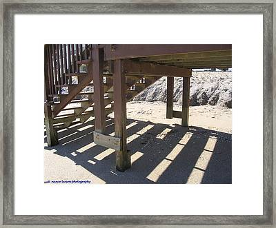 Stairs To The Beach Framed Print
