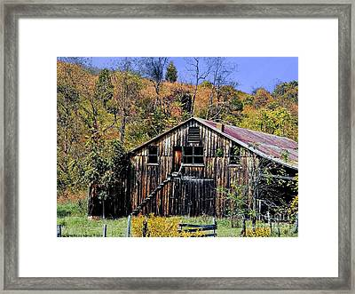 Stairs To The Loft Framed Print