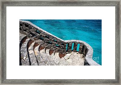 Stairs To The Sea Framed Print