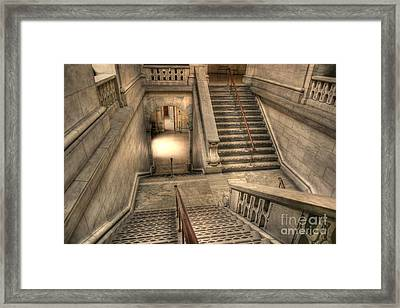 Stairs Up And Down Framed Print by David Bearden