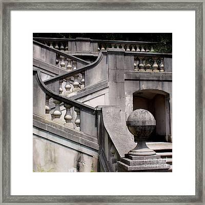 Stairway At Winterthur Framed Print