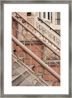 Stairway Detail Framed Print by Denice Breaux