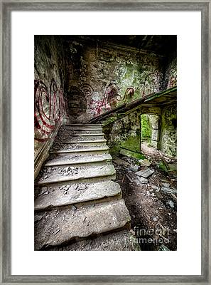 Stairway Graffiti Framed Print by Adrian Evans