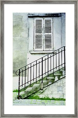 Framed Print featuring the photograph Stairway In Paris by Mary Bedy