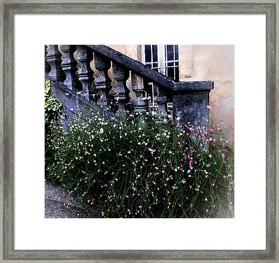 Stairway In Sarlat France Framed Print by Jacqueline M Lewis