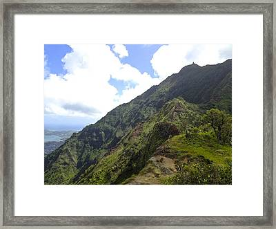 Stairway In The Distance Framed Print by Bryan Hurlbut