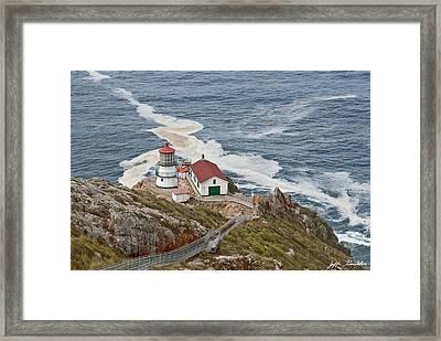 Framed Print featuring the photograph Stairway Leading To Point Reyes Lighthouse by Jeff Goulden