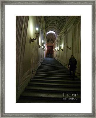 Framed Print featuring the photograph Stairway  by Robin Maria Pedrero