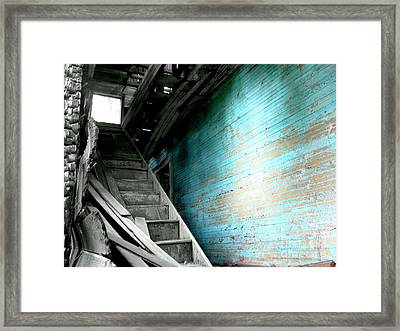 Stairway To Abandoned Framed Print by Amy Sorrell