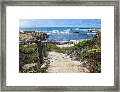Stairway To Asilomar State Beach Framed Print