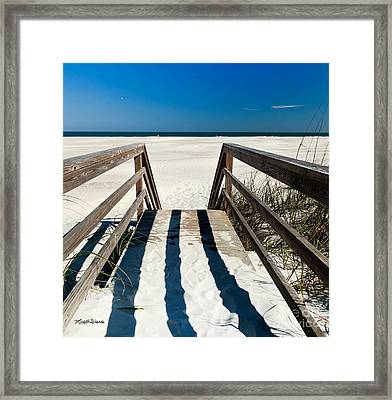 Stairway To Happiness And Possibilities Framed Print