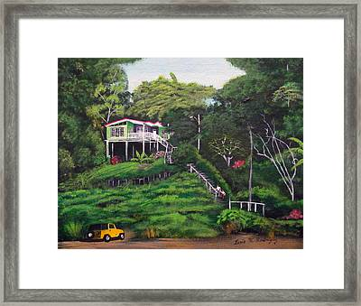 Stairway To Heaven Framed Print by Luis F Rodriguez