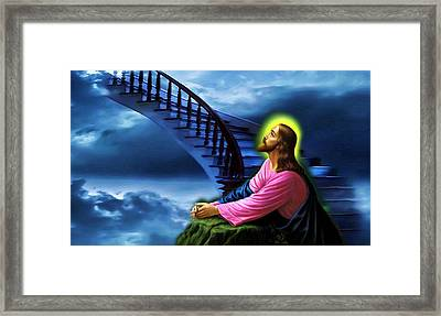 Framed Print featuring the digital art Stairway To Heaven by Karen Showell