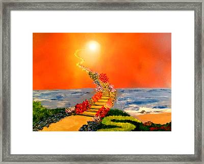 Framed Print featuring the painting Stairway To Heaven by Michael Rucker