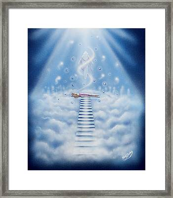 Stairway To Heaven Framed Print by Nickie Bradley