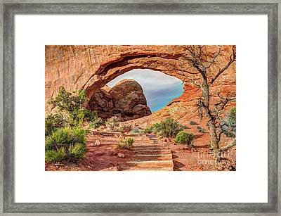 Stairway To Heaven - North Window Arch Framed Print