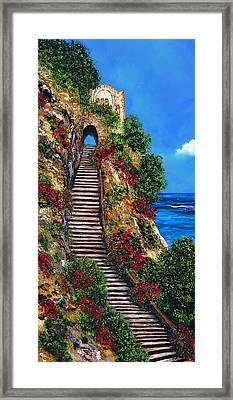 Stairway To Heaven Framed Print by Peta Carley