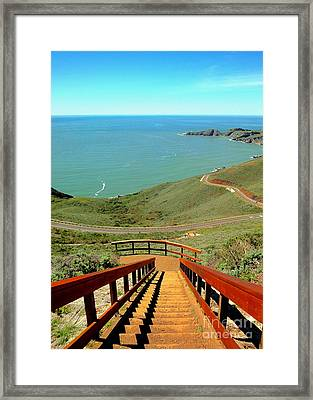 Stairway To Heaven Framed Print by Sarah Mullin