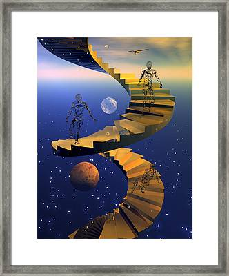Stairway To Imagination Framed Print