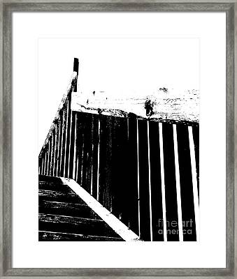 Stairway To Framed Print by Jim Rossol