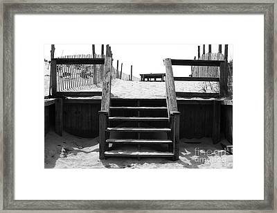 Stairway To Lbi Heaven Framed Print by John Rizzuto