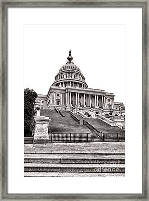 Stairway To Power   Framed Print