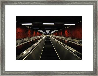 Stairway To Red Framed Print by Frederico Borges