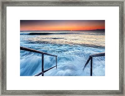 Stairway To Sea Framed Print by Evgeni Dinev