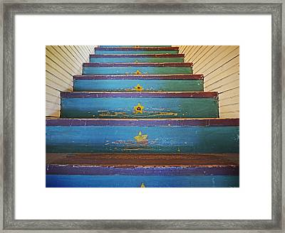 Stairway To...... Framed Print by Steven  Michael
