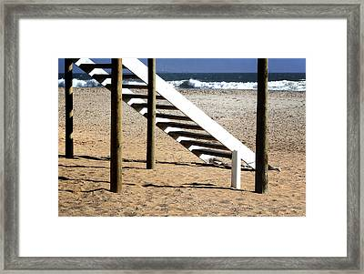 Stairway To Summer  Framed Print by A Rey