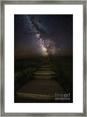 Stairway To The Galaxy Framed Print by Aaron J Groen