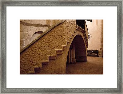 Stairway To The Hidden Altar Framed Print by Lorraine Devon Wilke