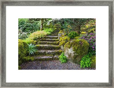 Stairway To The Secret Garden Framed Print