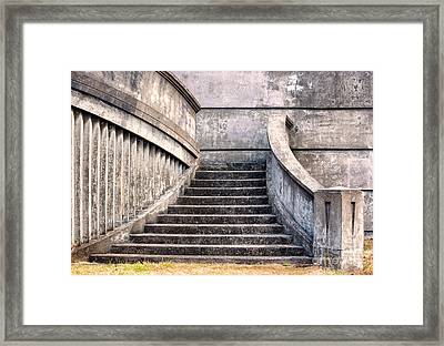 Stairway To The Unknown Framed Print by Sandra Bronstein