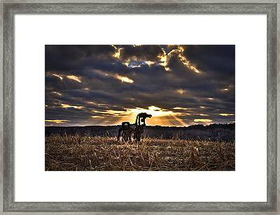 Stairways To Heaven The Iron Horse Framed Print by Reid Callaway