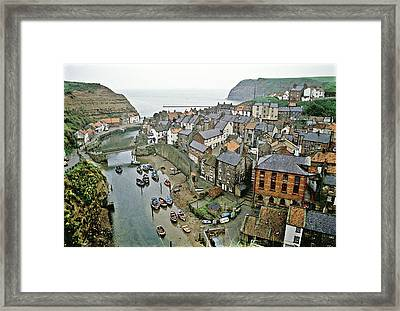 Staithes Yorkshire Uk 1980s Framed Print by David Davies