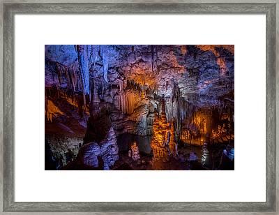 Stalactite Maze Framed Print