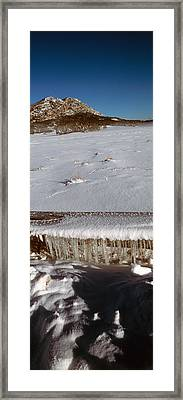 Stalactite Of Frozen Water In A Trough Framed Print by Panoramic Images