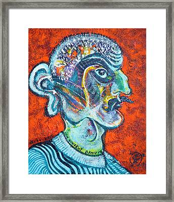 Stalinist With Big Ear Framed Print by Ion vincent DAnu