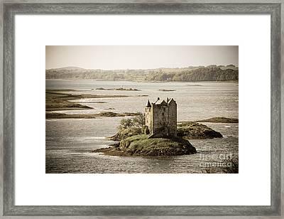Stalker Castle Vintage Framed Print by Jane Rix