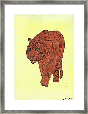 Stalking Tiger Framed Print by Tracey Williams