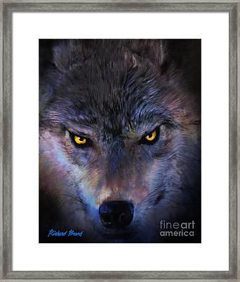 Stalking Wolf Framed Print