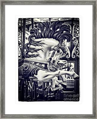 Stallion - Carousel Framed Print