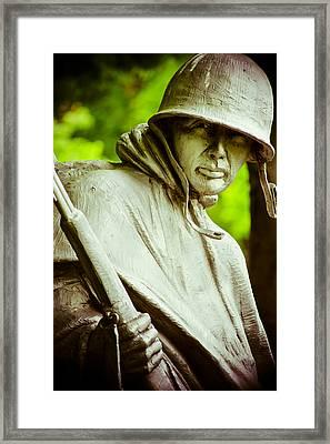 Stalwart Soldier Framed Print by Christi Kraft