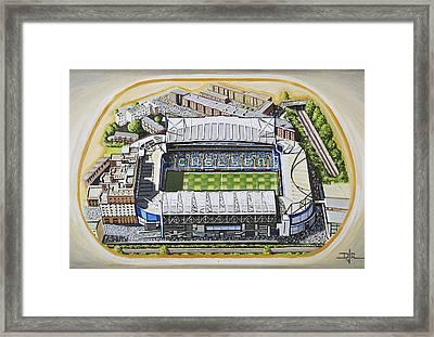 Stamford Bridge - Chelsea Framed Print by D J Rogers