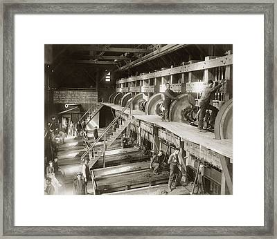 Stamp Mill, 1888 Framed Print by Granger