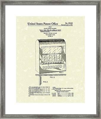 Stamp Vending 1963 Patent Art Framed Print by Prior Art Design