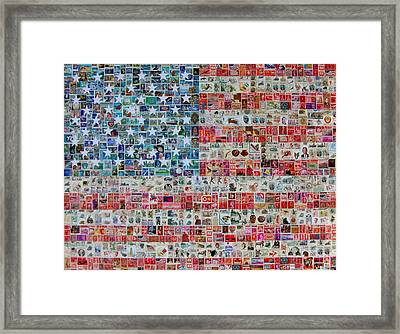 Stamps And Stripes Framed Print by Gary Hogben